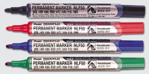 【史代新文具】飛龍牌Pentel NLF50 1.9mm 圓頭後壓式油性筆(1盒12支)