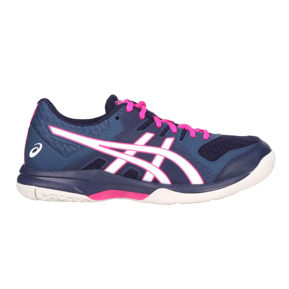 ASICS GEL-ROCKET 9 女排羽球鞋-訓練 亞瑟士 排球 羽毛球 深藍白粉 25