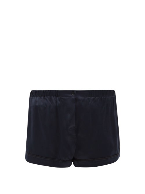 Araks - Tia Washed-silk Pyjama Shorts - Womens - Navy