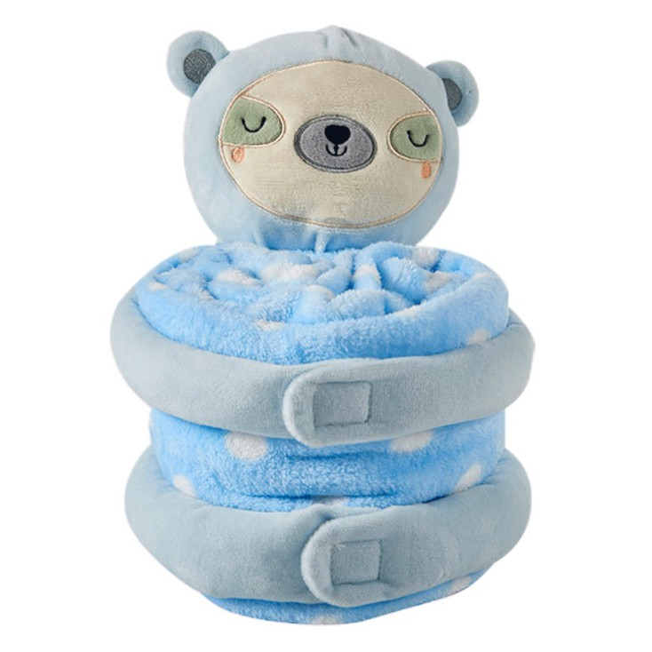 蓋毯包巾嬰兒被-安撫娃娃+抱被彌月禮 雪倫小舖【XH694】