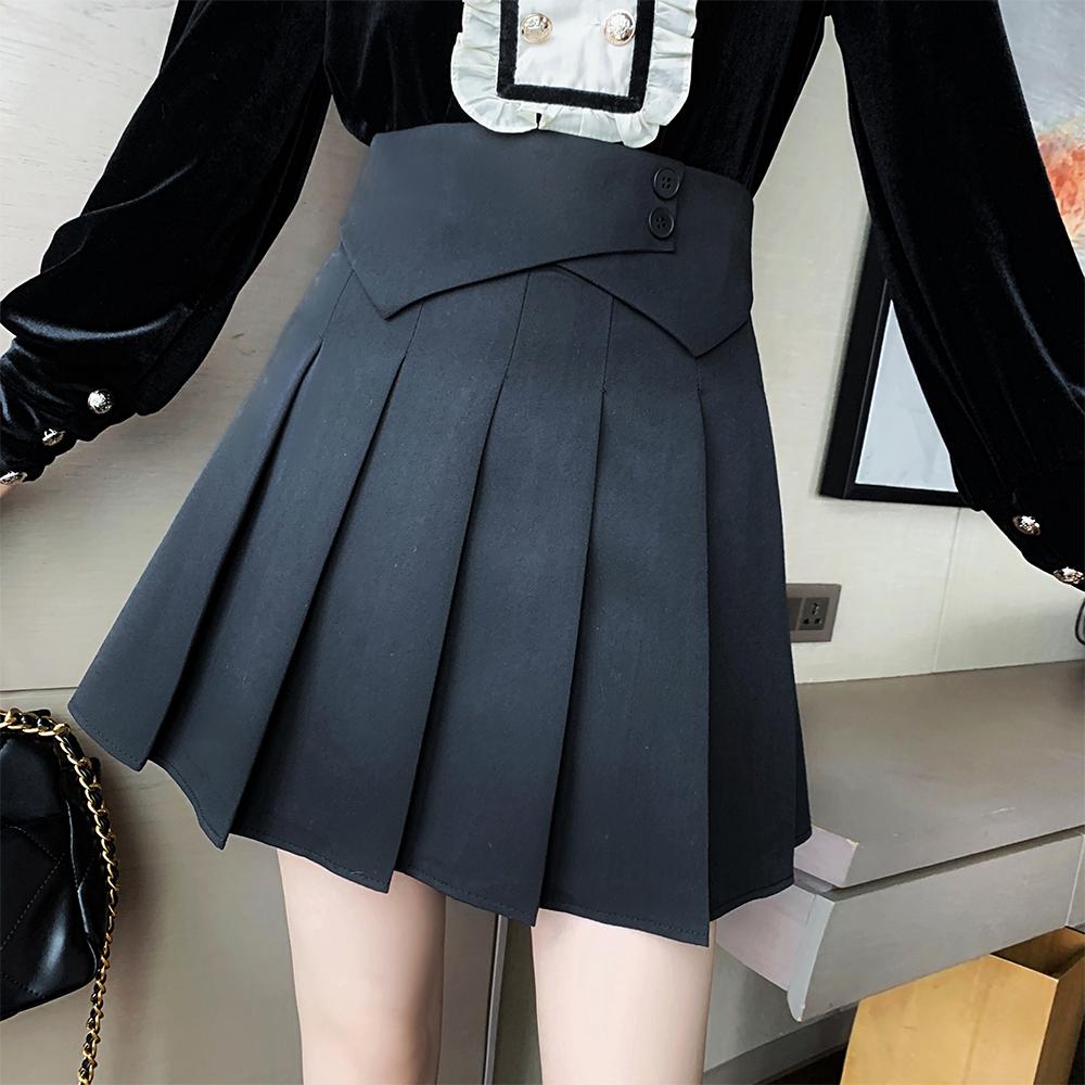 M-4XL大尺碼衣著 大碼女裝春裝新款胖妹妹百褶裙胖mm寬鬆顯瘦半身裙