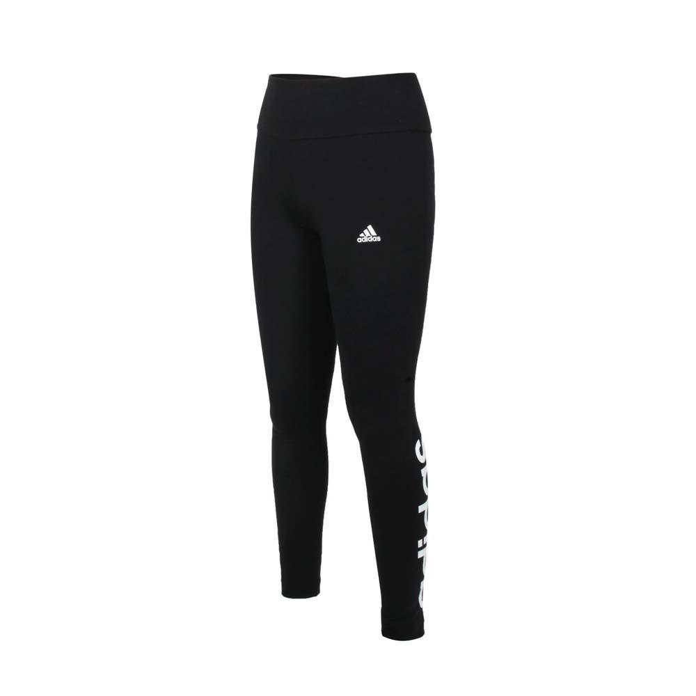 ADIDAS 女緊身長褲-緊身褲 慢跑 路跑 瑜珈 有氧 運動長褲 愛迪達 黑白