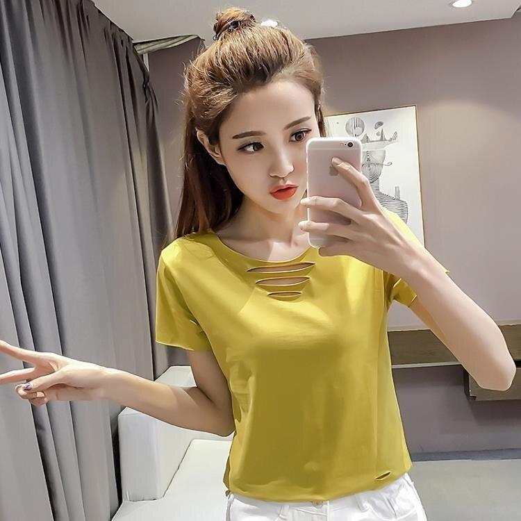 小碼上衣 嬌小矮個子女生150CM顯高145短款T恤女裝XS小碼155搭配短裝上衣夏