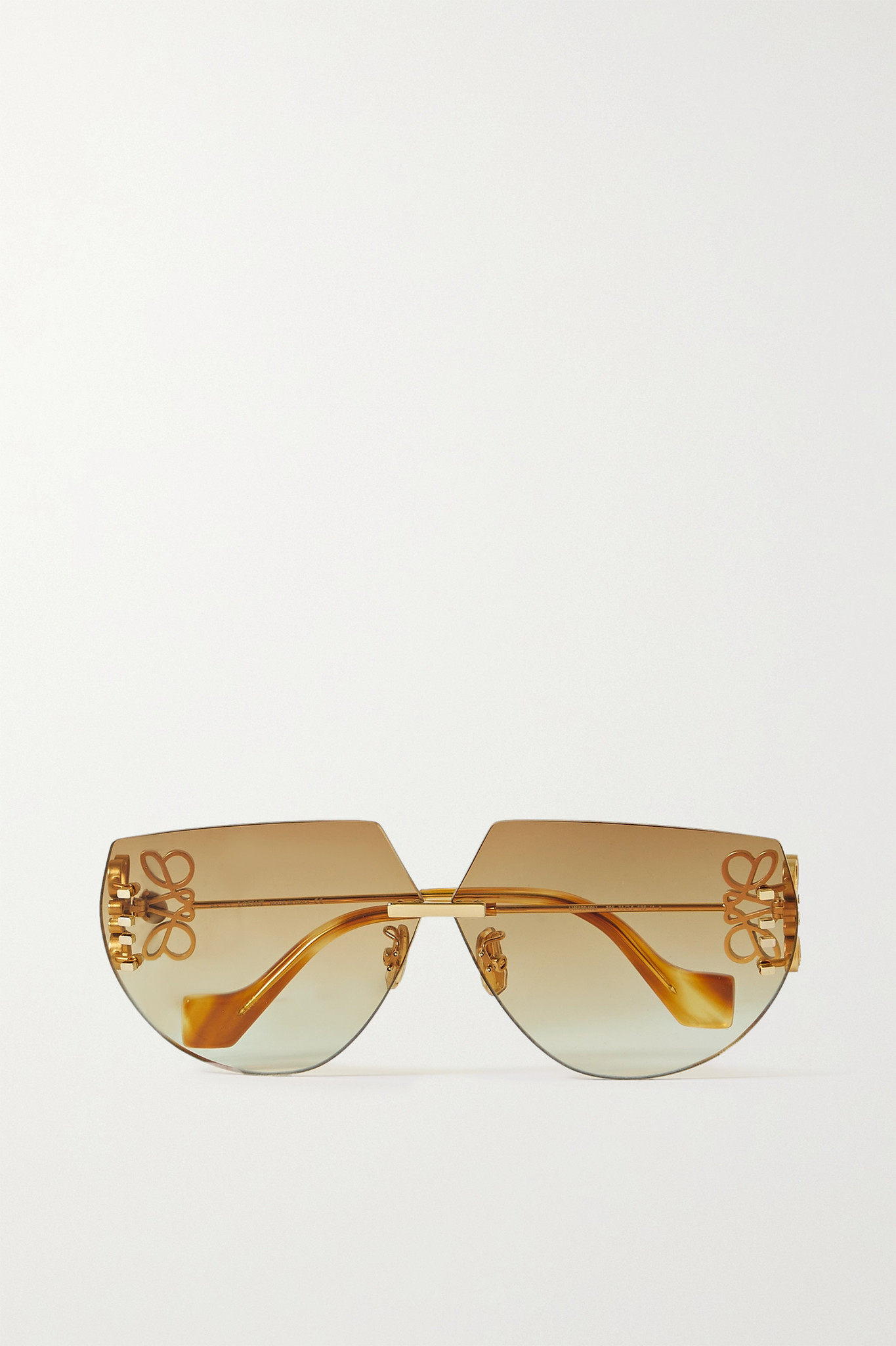 LOEWE - Oversized D-frame Gold-tone Sunglasses - Brown - one size