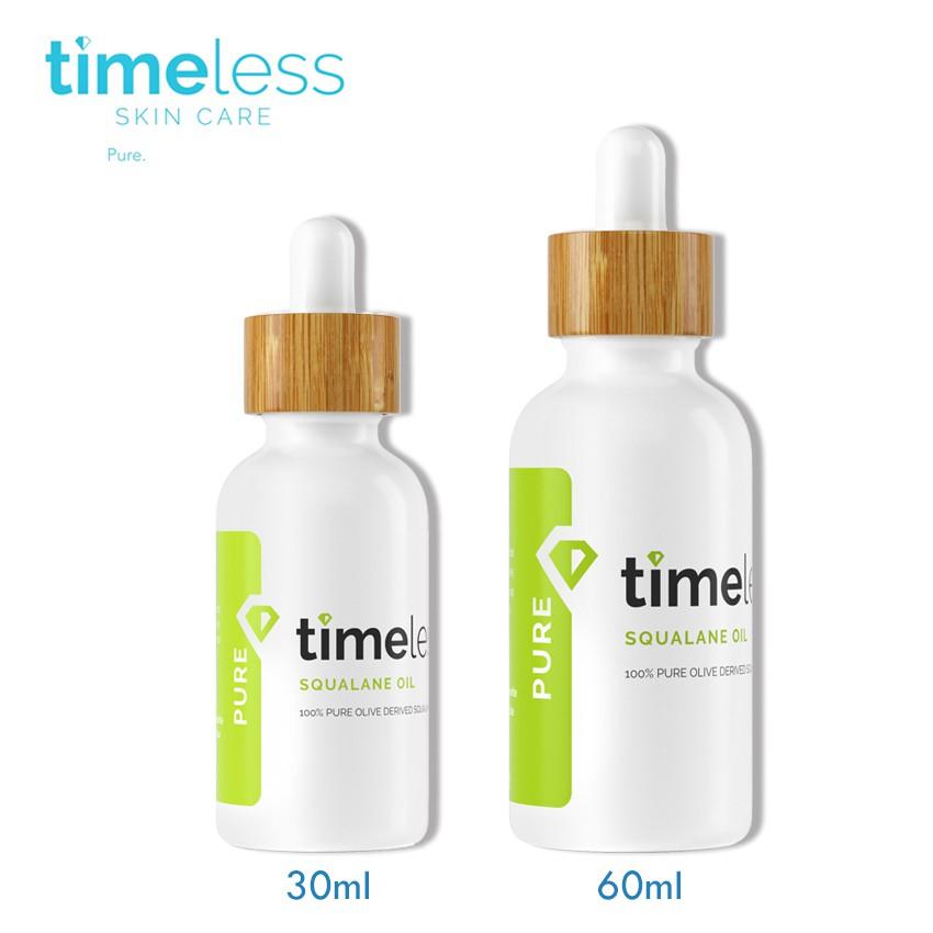 時光永恆 Timeless 時光永恆 角鯊潤澤精華油 (原 角鲨烷精華液) 30ml / 60ml【巴黎丁】
