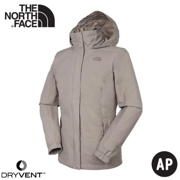 【The North Face 女 DV防水保暖外套《礦物灰》】4U5G/衝鋒衣/防水外套/風雨衣
