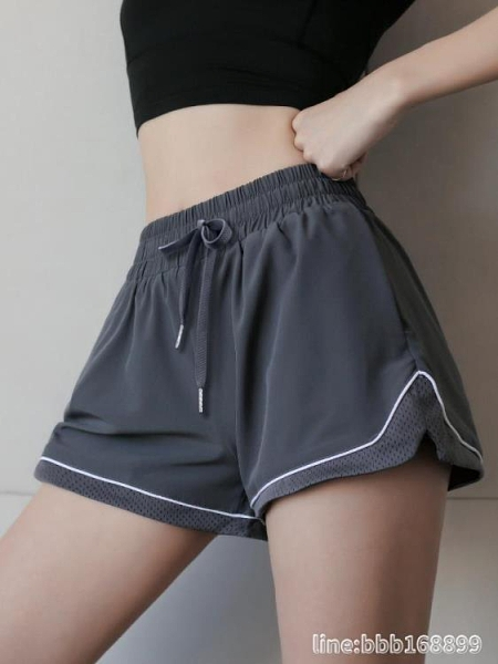 短褲女 運動短褲女寬鬆休閒百搭防走光高腰舞蹈瑜伽褲夏季速干跑步健身褲 星河光年