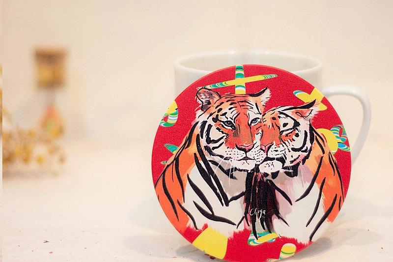 動物系列 /  我想你 /  MIT特製 / 鶯歌陶瓷杯墊 / 藝術擺飾