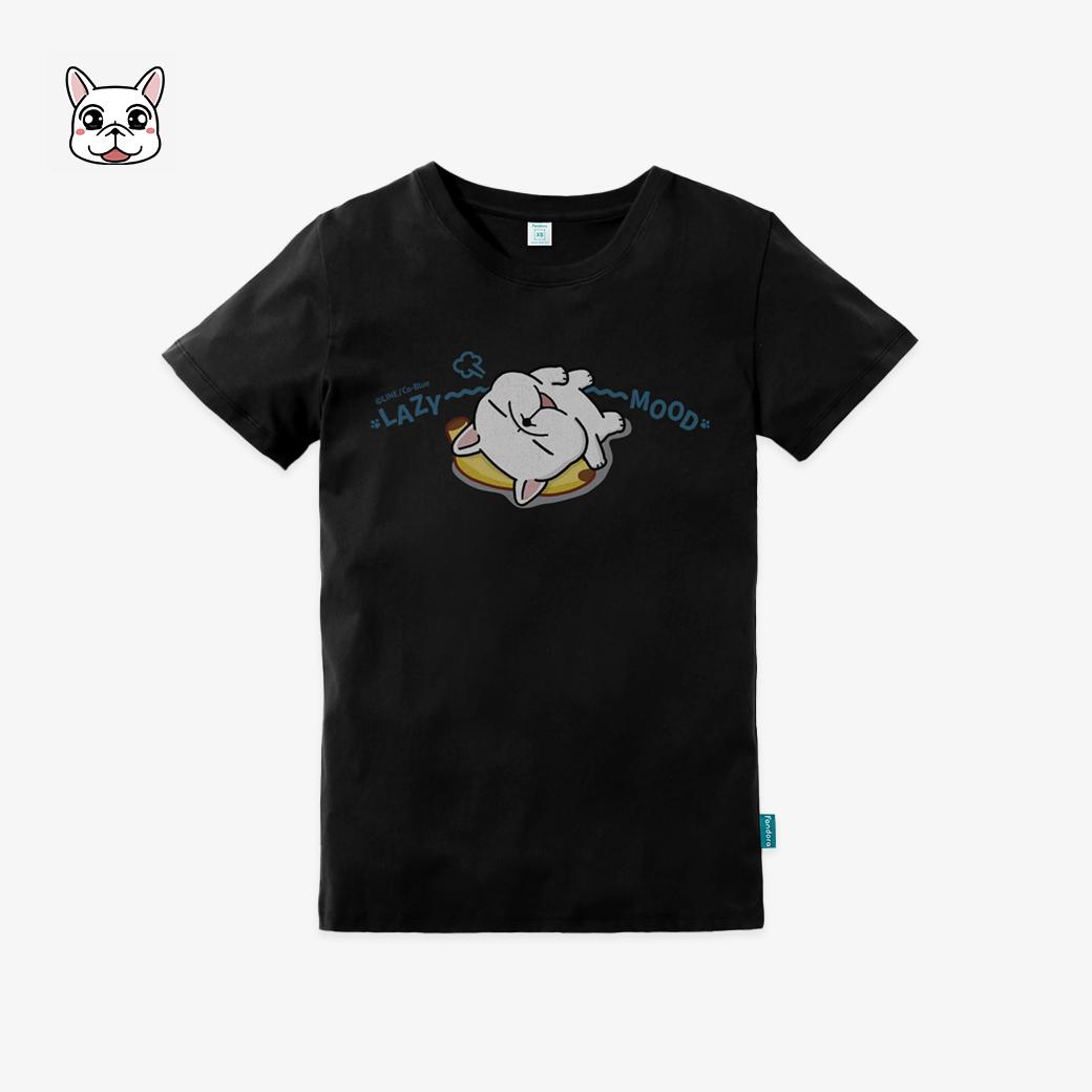 豆卡頻道_LAZYMOOD企鵝黑短袖T恤