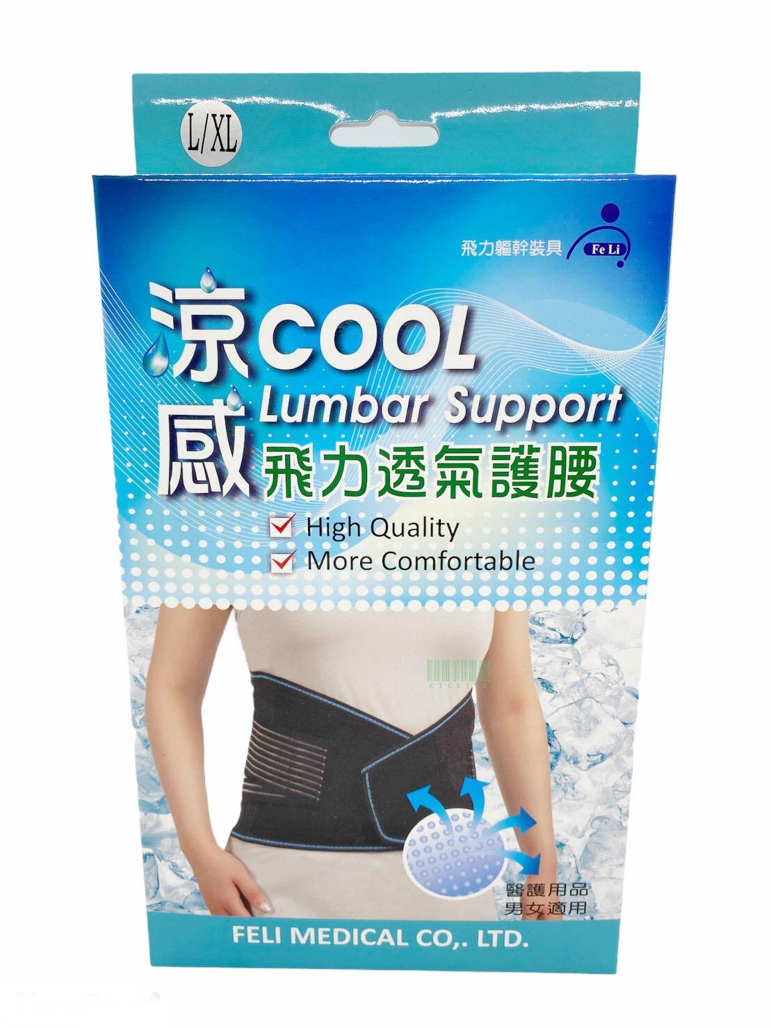 飛力 軀幹護具 開放式 涼感護腰 網布束腹帶 醫療護腰 1枚037991