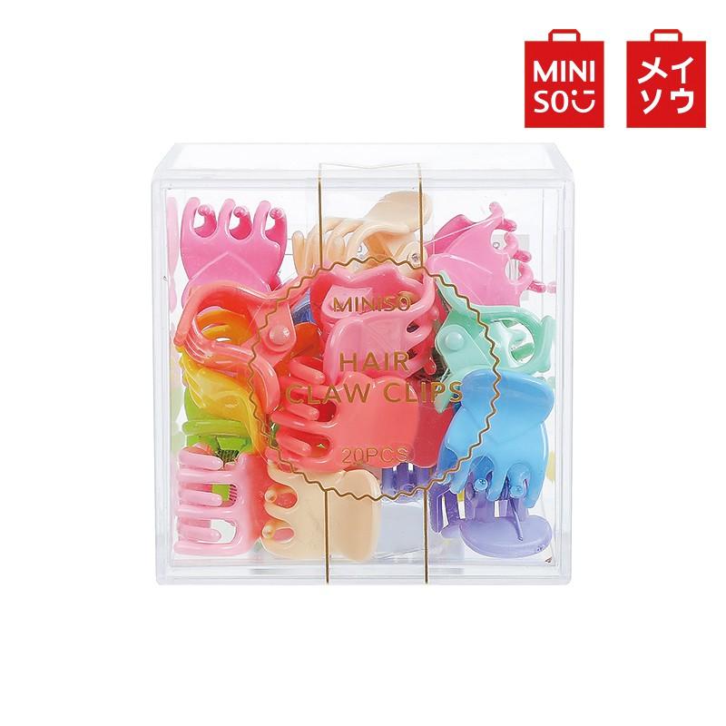【MINISO名創優品】20個裝可愛迷你彩色小爪夾(混)彩色小髮夾 泫雅風造型