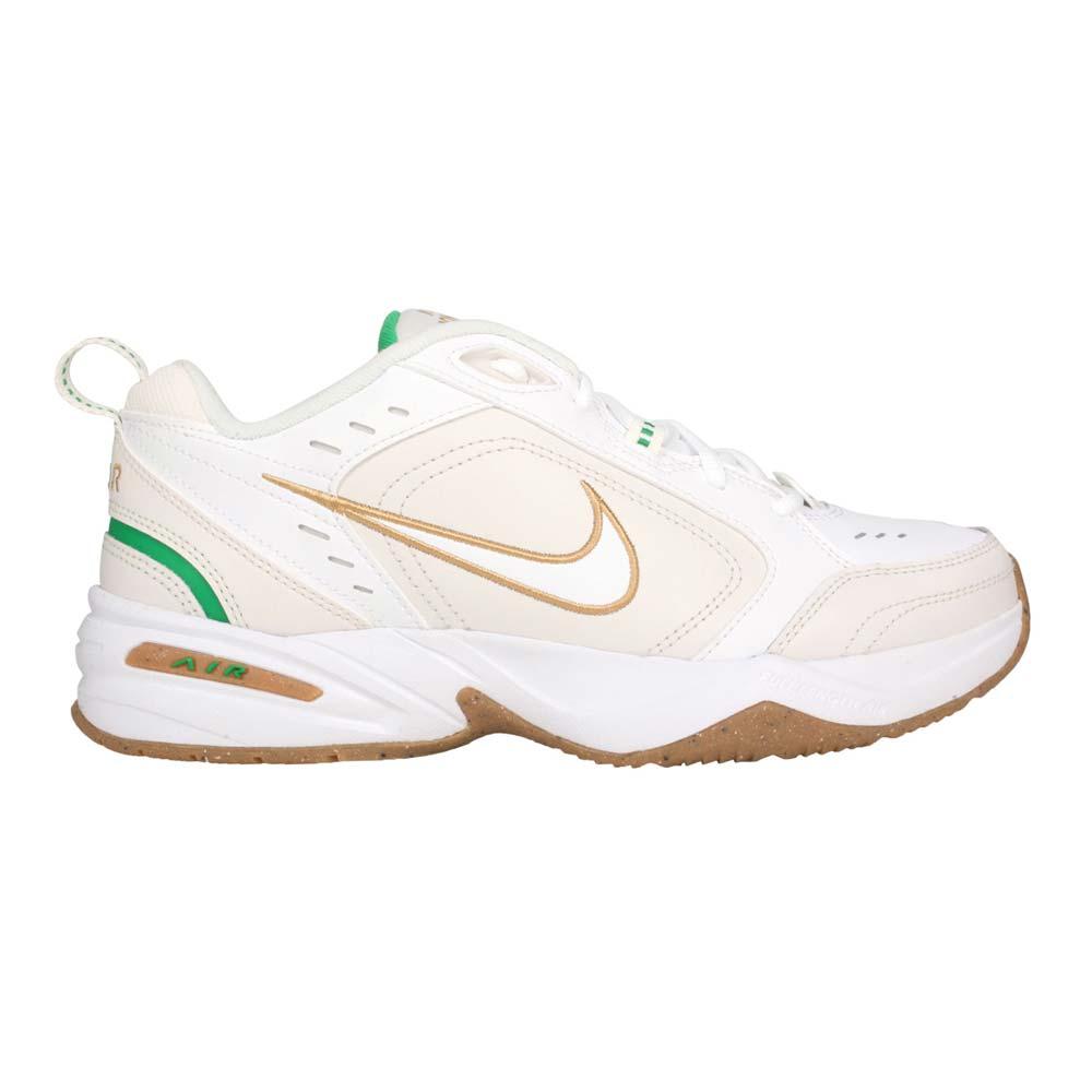 NIKE AIR MONARCH IV 男休閒運動鞋-老爹鞋 復古 經典 皮革 白米白棕綠