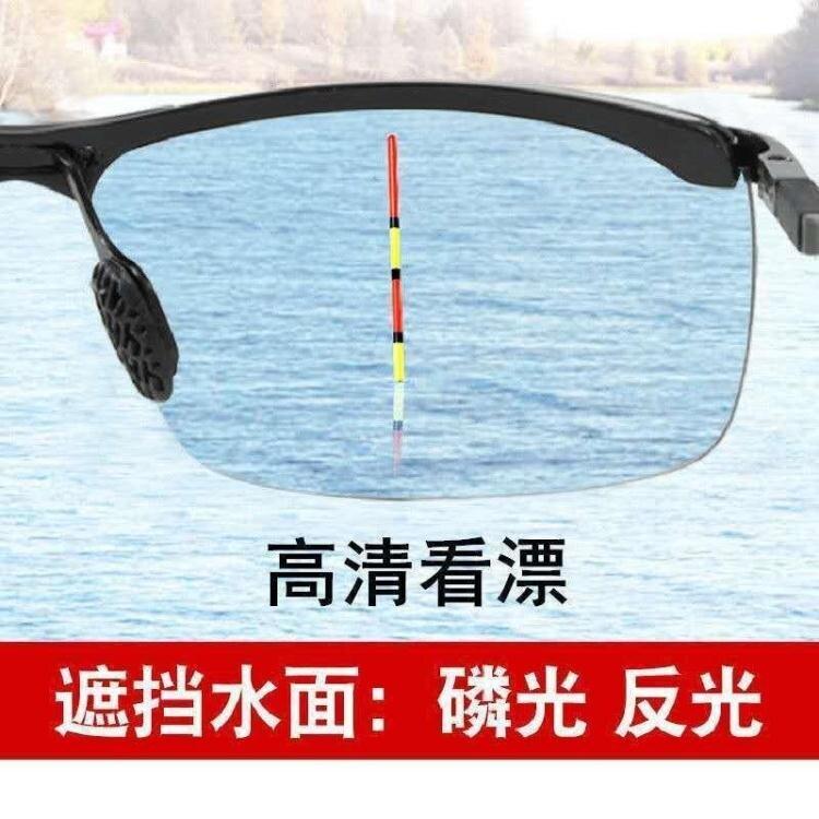 釣魚眼鏡看票高清日夜兩用偏光墨鏡開車【薇格嚴選】