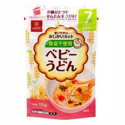 【江戶物語】 Hakubaku 寶貝素麵 烏龍麵 義大利麵 100g 日本進口 5個月以上 一歲以下 嬰兒食品 無鹽麵線