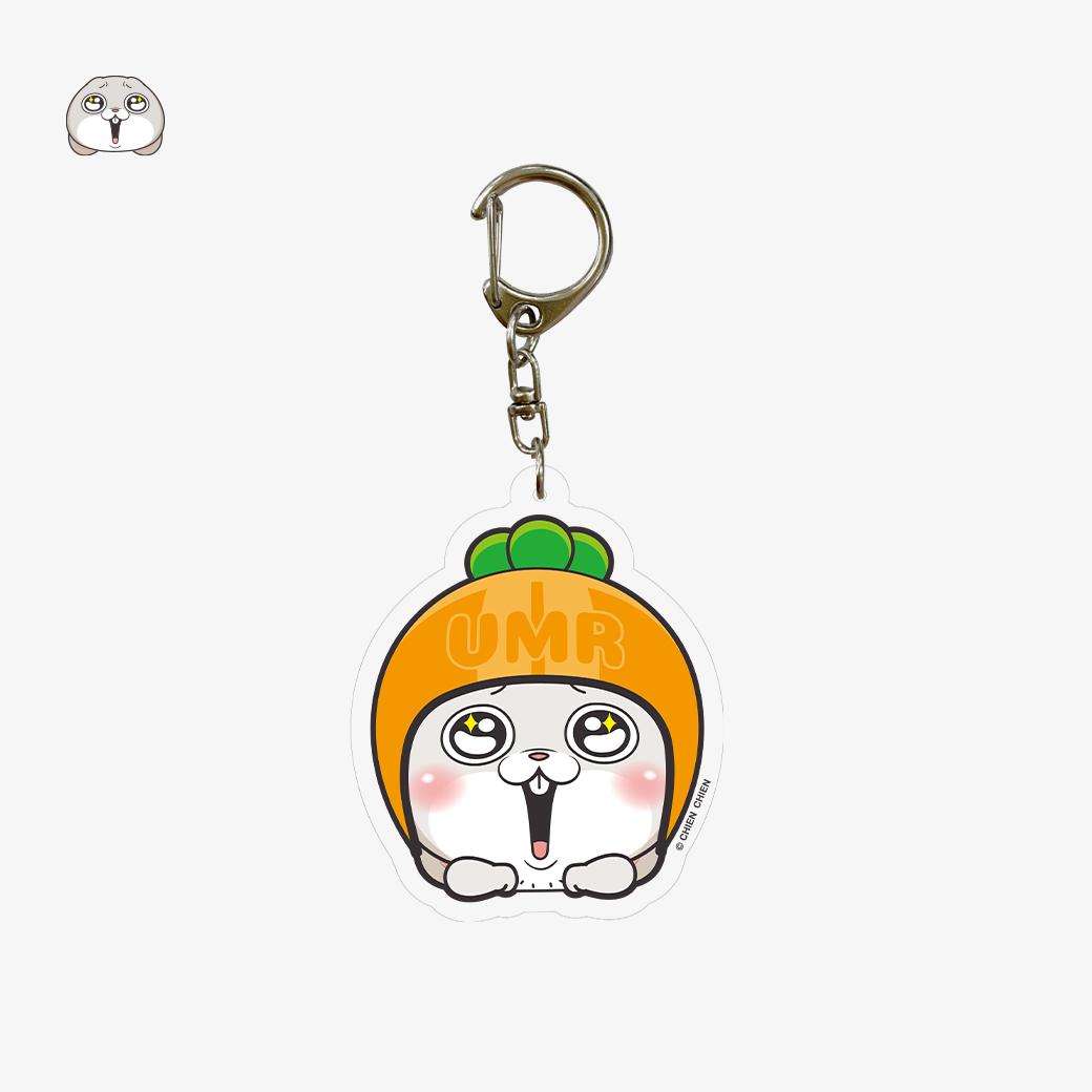 好想兔_壓克力造型鑰匙圈-安全帽兔