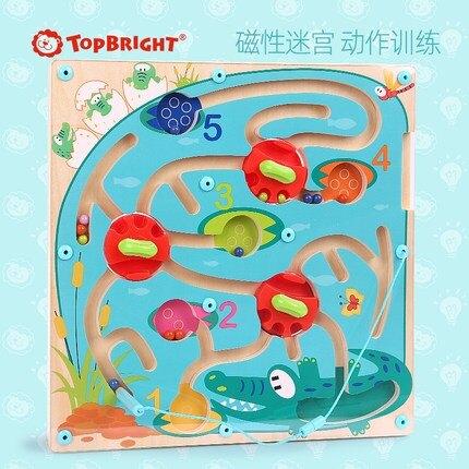 迷宮球 特寶兒迷宮玩具走珠球磁性運筆兒童男孩力類4-6歲智力開發【全館免運 七五折鉅惠】