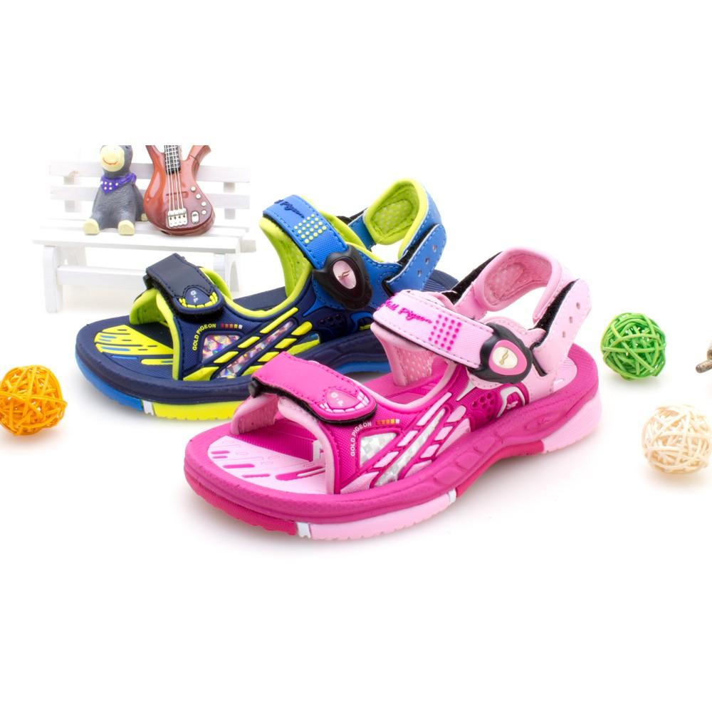 【GP】兒童柔軟PLUS磁扣兩用涼拖鞋G0706B-藍綠色/桃紅色(SIZE:26-30 共二色) G.P