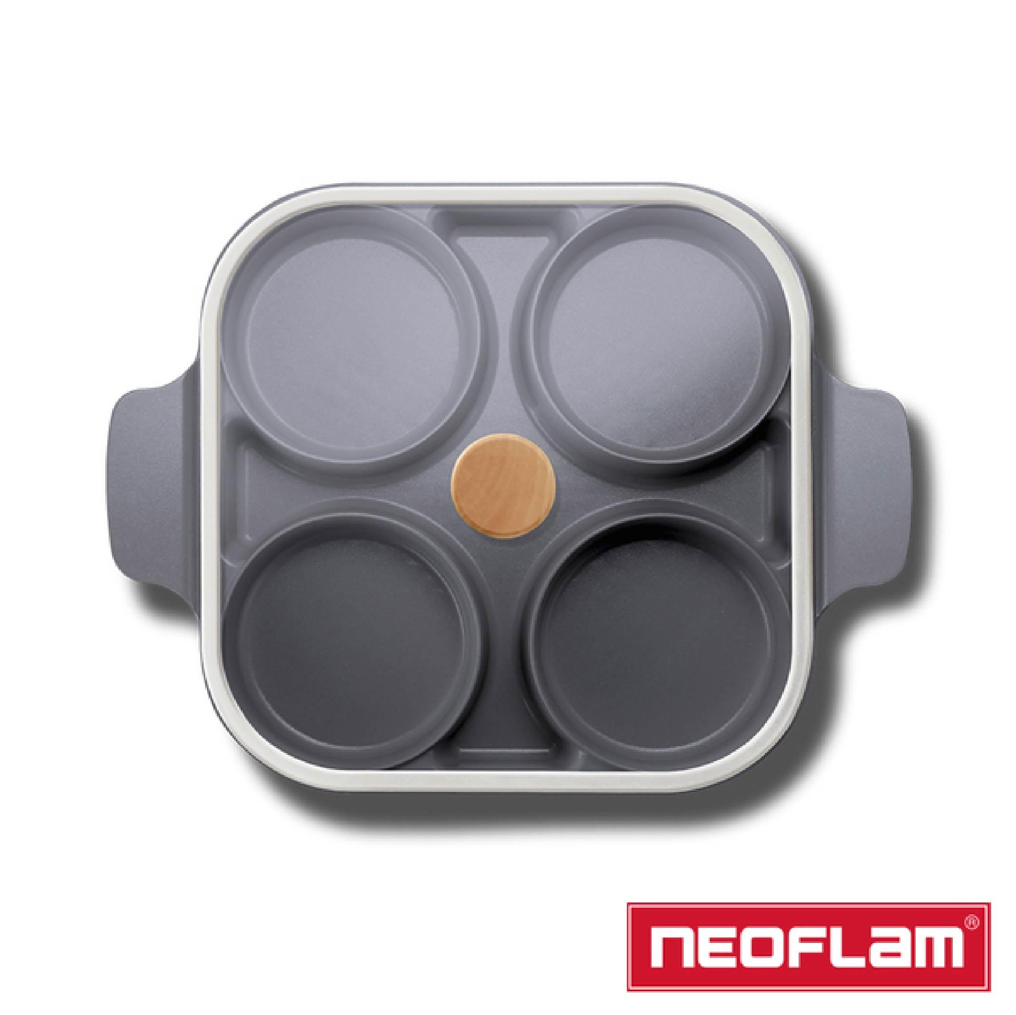 【NEOFLAM】Steam Plus Pan雙耳烹飪神器&玻璃蓋-FIKA(IH爐適用/不挑爐具/含玻璃蓋)