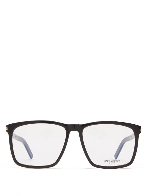 Saint Laurent - Square Acetate Glasses - Womens - Black