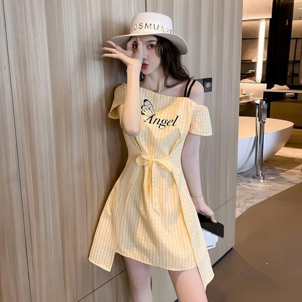 洋裝 吊帶裙 條紋裙 S-2XL新款連身裙 T235-5047.胖胖美依
