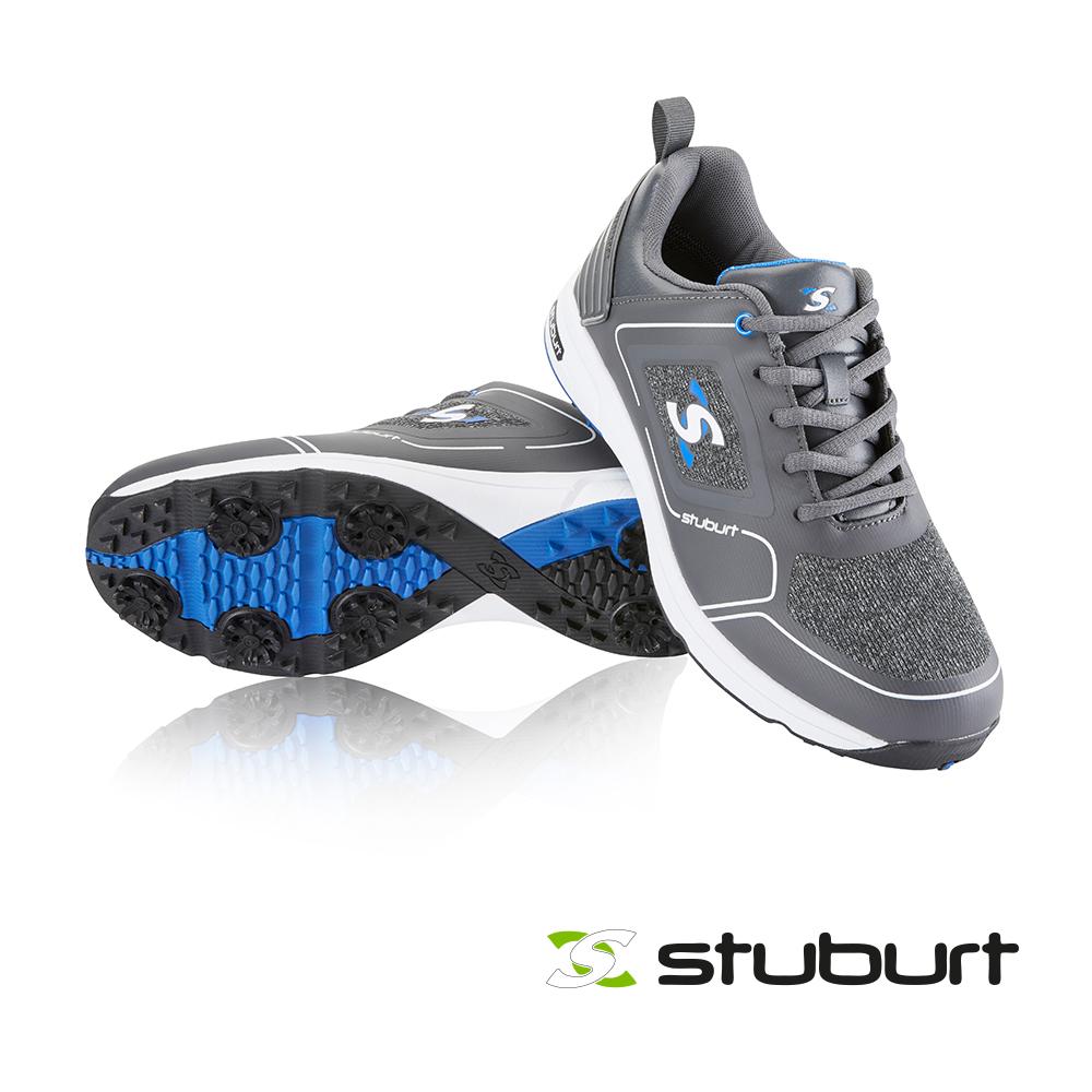 【STUBURT】英國百年高爾夫球科技防水鞋(帶防滑鞋釘XP II SPIKED SBSHU1126 深灰