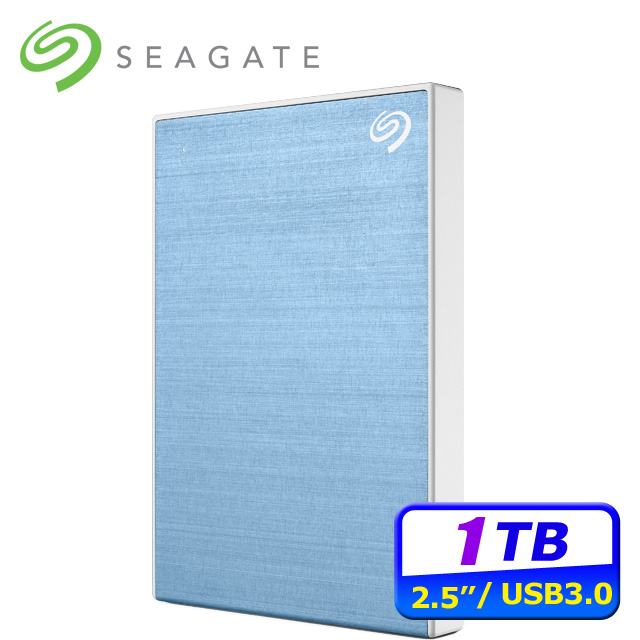 Seagate Backup Plus Slim 1TB USB3.0 2.5吋行動硬碟-藍