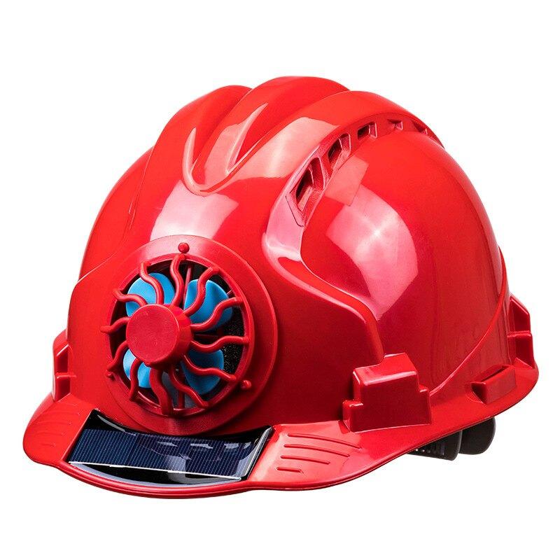 太陽能帽子帶風扇加厚多功能頭盔國標遮陽制冷工作空調帽充電