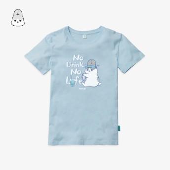 ㄇㄚˊ幾_NO DRINK NO LIFE天空藍短袖T恤