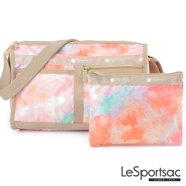 LeSportsac - Standard雙口袋斜背包-附化妝包 (迷幻珊瑚) 7519P F638