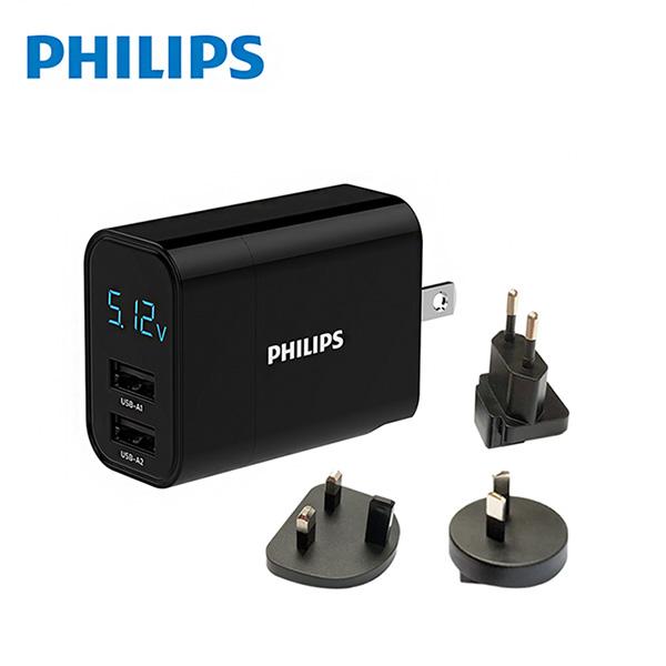 免運 PHILIPS飛利浦 PD+QC 18W 2孔充電器 DLP4320T二入