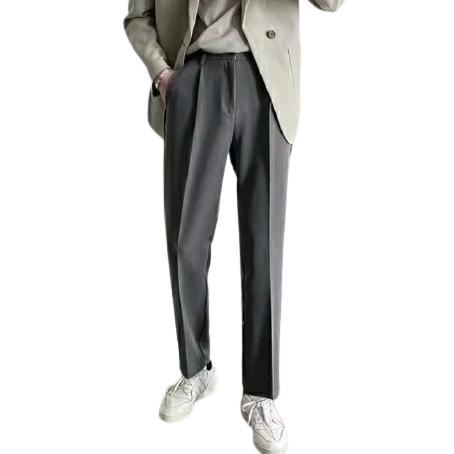 【M世代】韓版男生直筒長褲薄春夏青少年垂感闊腿褲子潮流男士休閒西褲(MXL210)