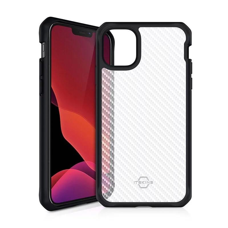 法國 ITSKINS iPhone 12 mini/12 Pro/Pro Max HYBRID TEK 卡夢紋防摔殼