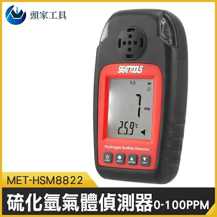 《頭家工具》硫化氫氣體偵測器 氣體偵測器 硫化氫 有毒氣體報警器 硫化氫檢測器 污水垃圾檢測 MET-HSM8822