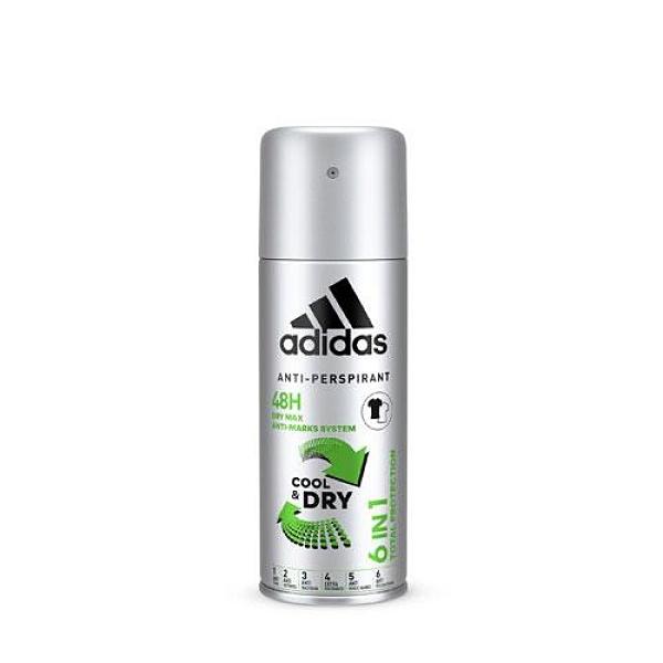 Adidas男用6效合一長效制汗爽身噴霧150【愛買】