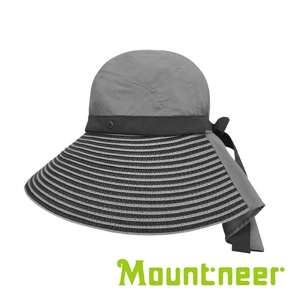 【Mountneer】中性透氣抗UV草編帽『卡其灰』11H06 台灣製造│抗UV帽│登山帽│路跑慢跑帽│防曬帽