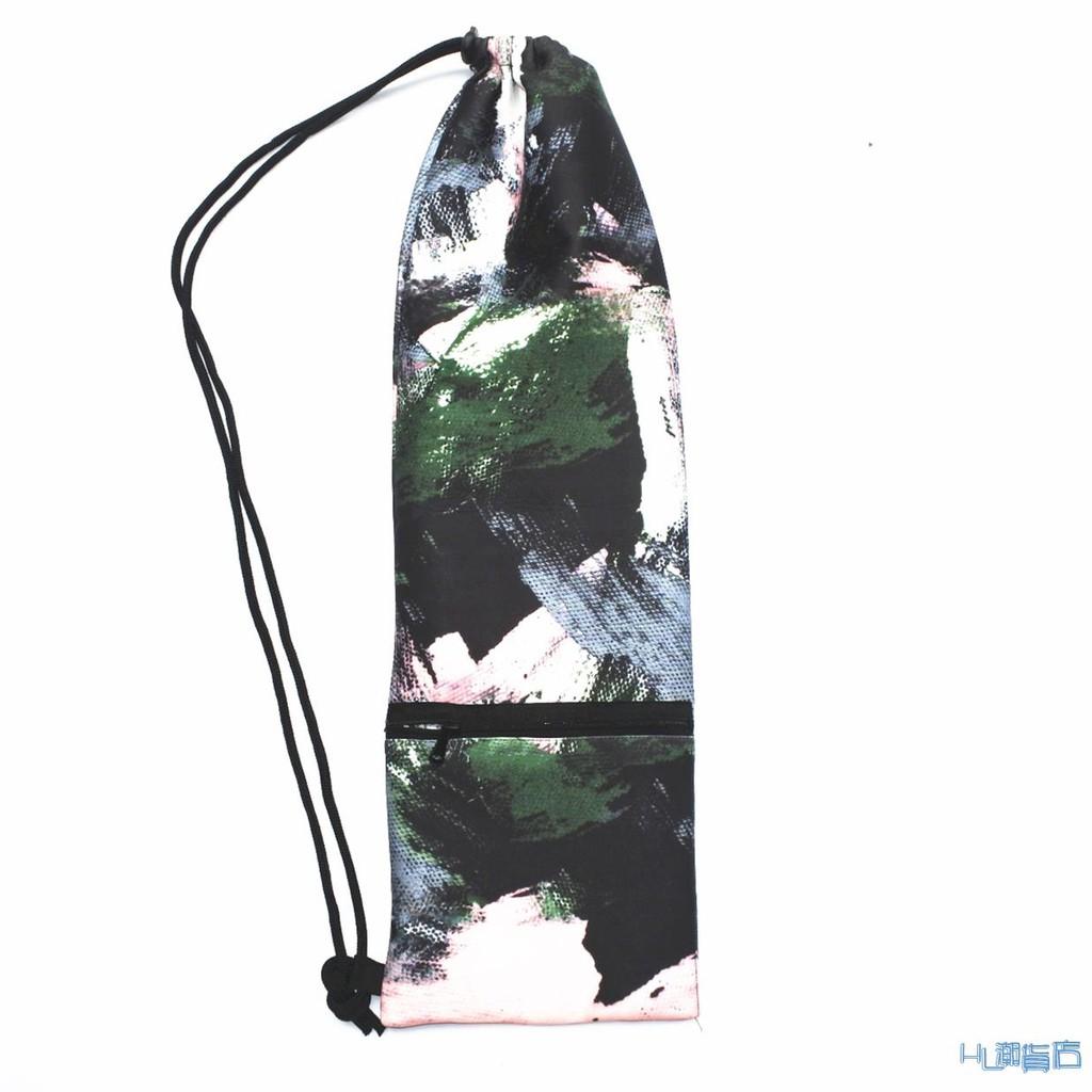 羽毛球拍袋 復古時尚涂鴉絨布羽毛球袋拍袋布袋2-3拍包男女便攜單肩背包定制『HL506』