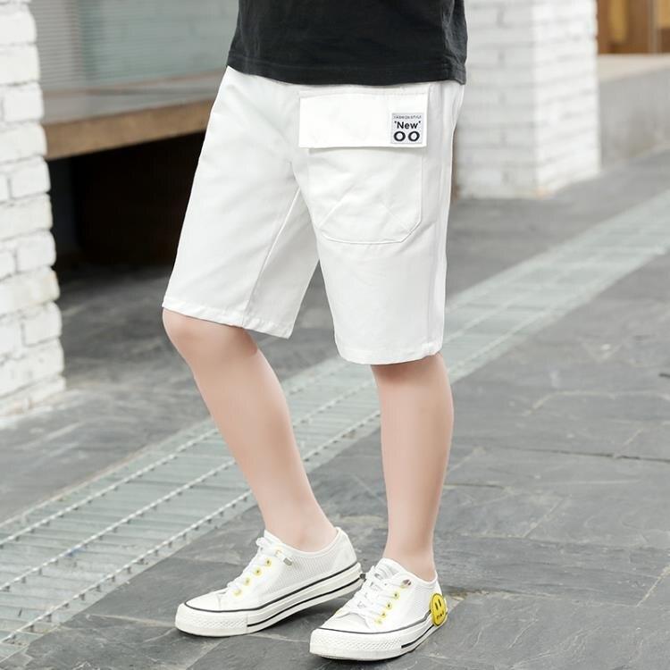男童短褲男童短褲夏裝薄款寬鬆潮童五分褲兒童夏季中褲寶寶正韓洋氣工裝褲-Ballet朵朵