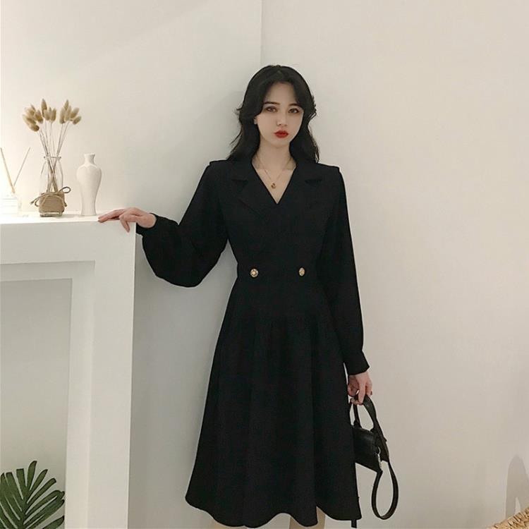 禮服 法式炸街氣質赫本風小黑裙設計感小眾輕奢高端小禮服連衣裙女春裝