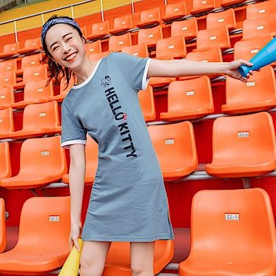 美國棉運動KITTY台灣製長版上衣/洋裝-OB嚴選