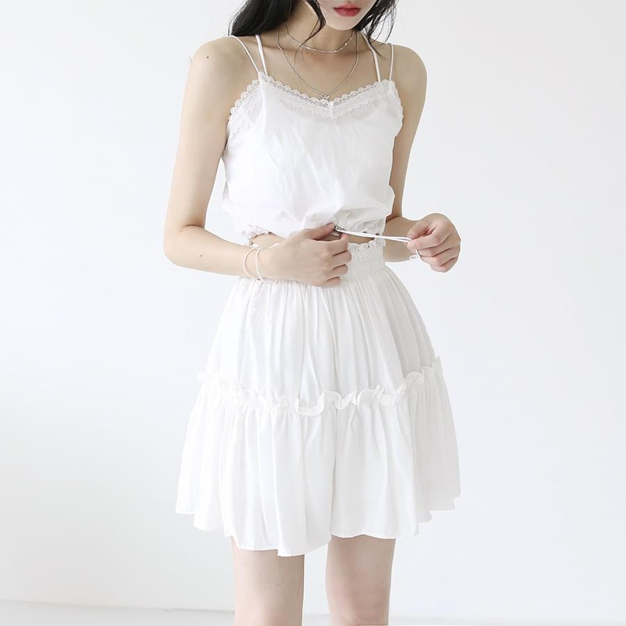 韓國空運 - Lace anorak sleeveless 無袖