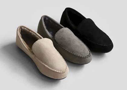 韓國空運 - Volhen fur-lined suede loafers 樂福鞋