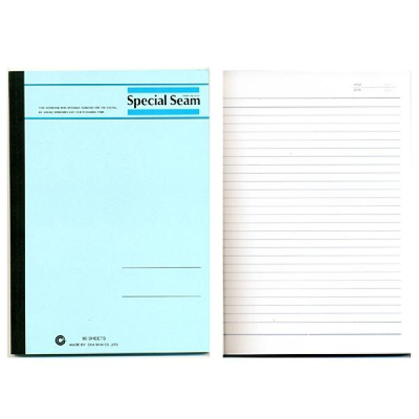 CHA SHIN 加新 80118080 18K藍色平裝固頁橫線筆記本/記事本 80張入 176x250mm