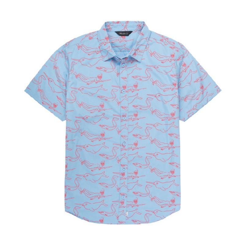 Stevie Gee奈德休閒襯衫 / 沙鷗藍色 Size : M