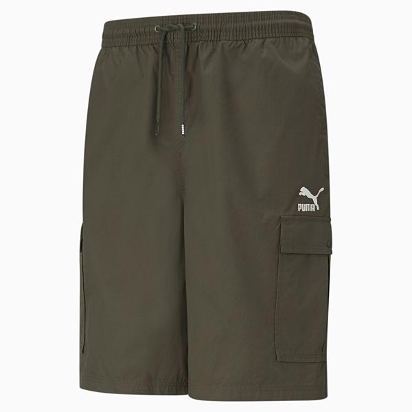 PUMA Classics 男裝 短褲 工業褲 10in 休閒 慢跑 訓練 綠 歐規【運動世界】53072070