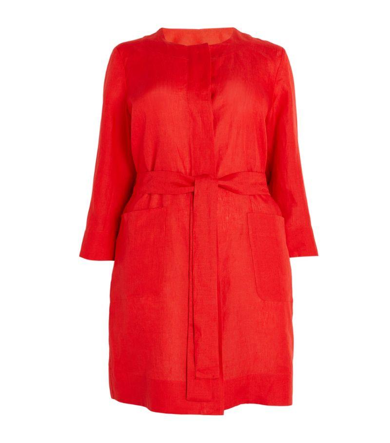 Marina Rinaldi Linen Belted Coat