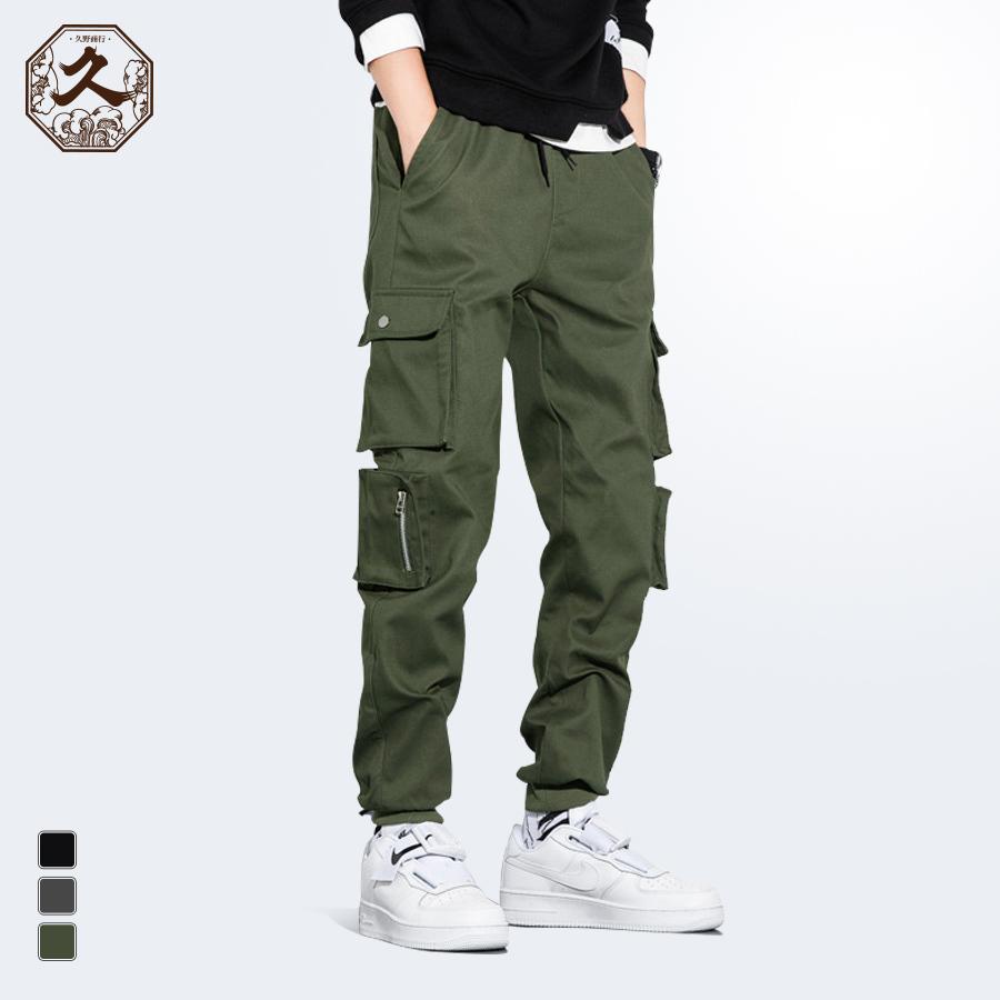 街潮時尚.工裝休閒縮口褲