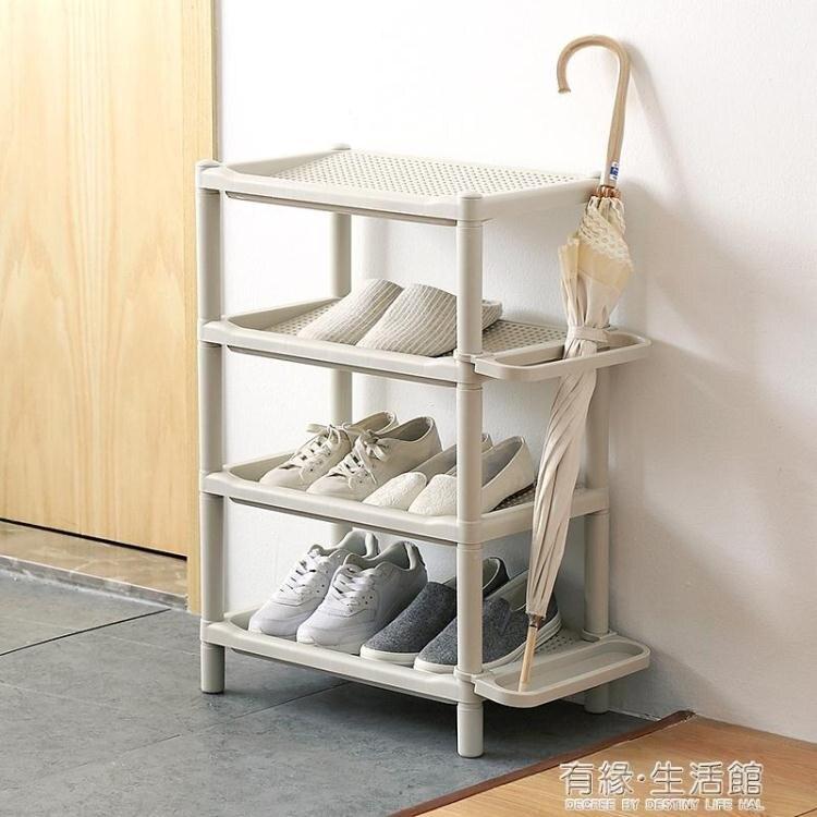 多層簡易鞋架子防塵家用宿舍門口塑料組裝現代簡約客廳浴室拖鞋架