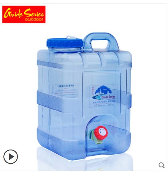 戶外PC食品級方型帶龍頭水箱車載家用茶道塑料容器礦泉水壺儲水桶