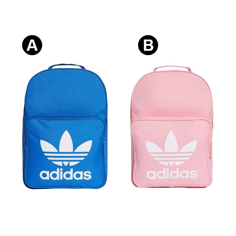 Adidas Originals Trefoil Backpack藍粉 三葉草 帆布 後背包 DJ2172/DJ2173