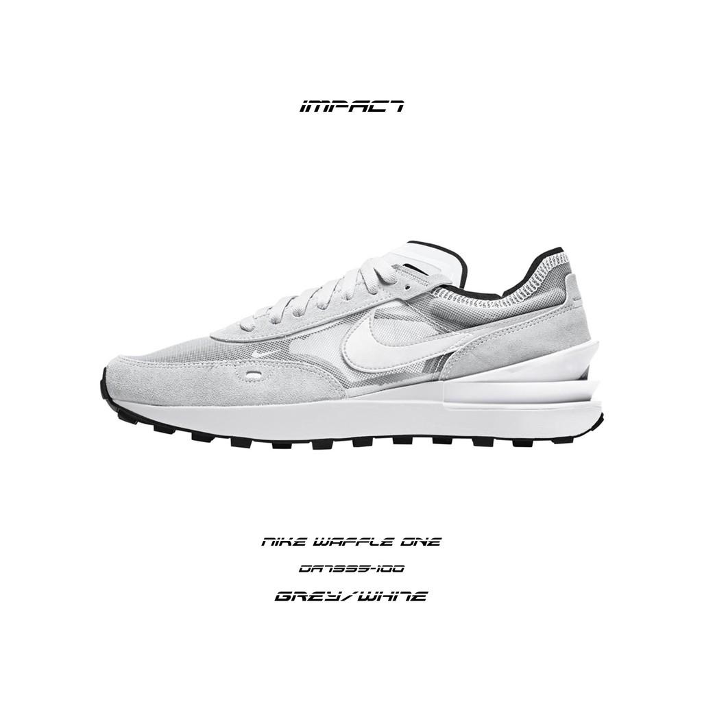 Nike Waffle One 灰白 小Sacai 解構 輕量 女鞋 DA7995-100 IMPACT